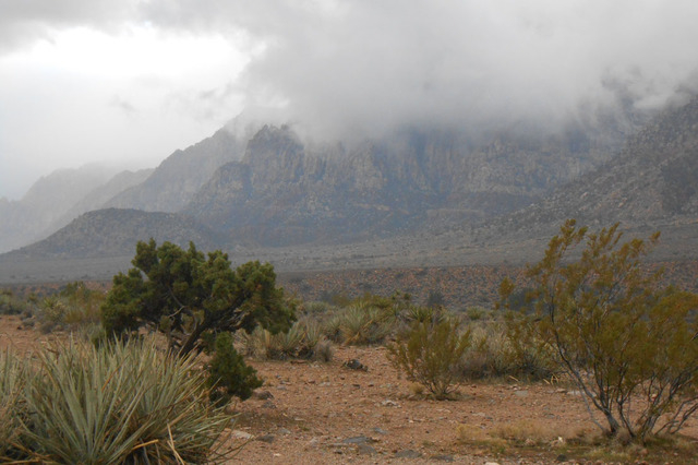 Red Rock Canyon National Conservation Area is shown south of the Scenic Loop Drive Dec. 17, 2014, less than a week after Congress granted it more acreage. Public input will be taken to determine h ...