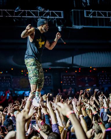 Method Man and Redman perform at Brooklyn Bowl in Las vegas, NV on November 10, 2014. (Courtesy, Erik Kabik/Retna Ltd.)