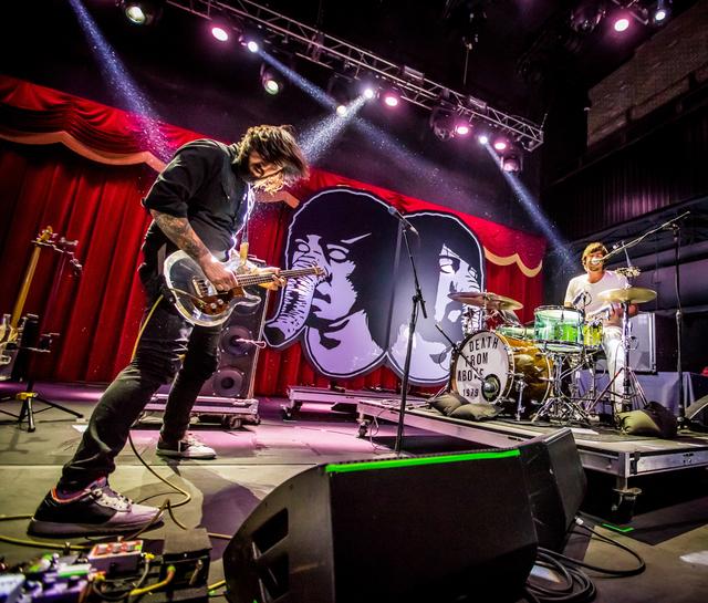 Death From Above 1979 perform at Brooklyn Bowl in Las Vegas, NV on November 15, 2014. (Courtesy, Erik Kabik/Retna Ltd.)