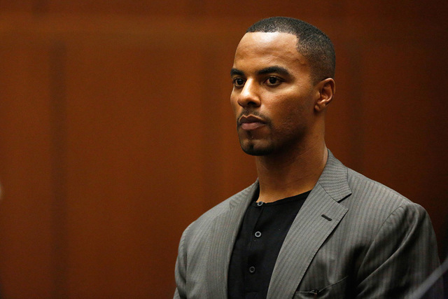 Former professional football player Darren Sharper appears for his arraignment at the Clara Shortridge Foltz Criminal Justice Center in Los Angeles, California in this file photo from February 20, ...