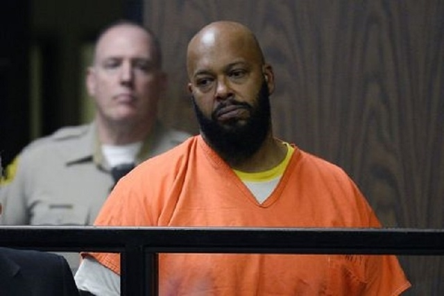 Rap mogul Suge Knight stands in court during his arraignment on murder charges at the Compton Courthouse in Compton, California, Feb. 3, 2015. (Reuters/Paul Buck/Pool)