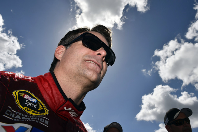 Feb 22, 2015; Daytona Beach, FL, USA; NASCAR Sprint Cup Series driver Jeff Gordon (24) before the Daytona 500 at Daytona International Speedway. Mandatory Credit: Jasen Vinlove-USA TODAY Sports