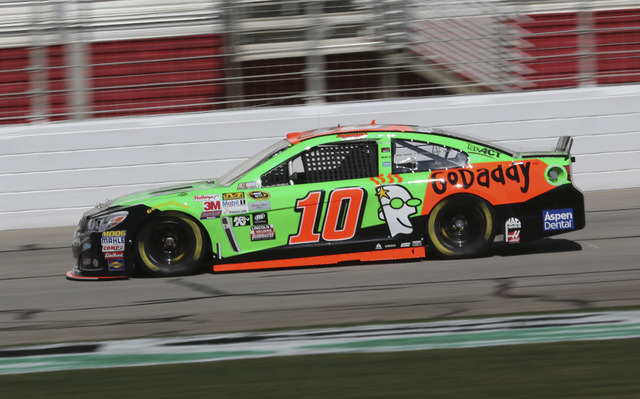 Feb 27, 2015; Hampton, GA, USA; Sprint Cup Series driver Danica Patrick (10)  during the practice for the Folds of Honor QuikTrip 500 at Atlanta Motor Speedway. Mandatory Credit: Marvin Gentry-USA ...