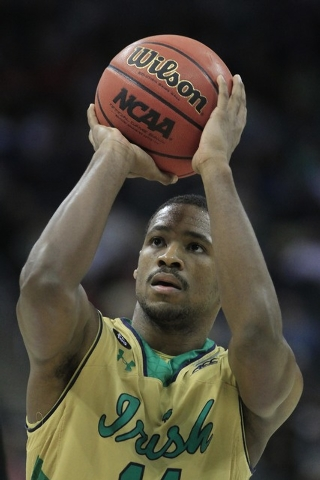 Mar 21, 2015; Pittsburgh, PA, USA; Notre Dame Fighting Irish guard Demetrius Jackson (11) shoots the ball during the second half against the Butler Bulldogs in the third round of the 2015 NCAA Tou ...