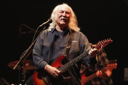 Musician David Crosby performs during a benefit concert at Nokia Theatre in Los Angeles, October 3, 2012. (Reuters/Mario Anzuoni)