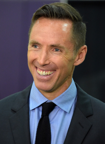 Mar 24, 2015; El Segundo, CA, USA; Los Angeles Lakers guard Steve Nash speaks to the media at press conference to announce his retirement at the Toyota Sports Center. (Kirby Lee-USA TODAY Sports)