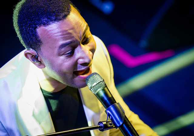 John Legend performs at iHeartRadio Ultimate Valentine's Day Escape at Brooklyn Bowl in Las Vegas, NV on February 21, 2015. (Courtesy, Erik Kabik/Retna Ltd.)