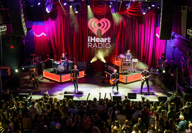 One Republic performs at iHeartRadio Ultimate Valentine's Day Escape at Brooklyn Bowl in Las Vegas, NV on February 21, 2015. (Courtesy, Erik Kabik/Retna Ltd.)