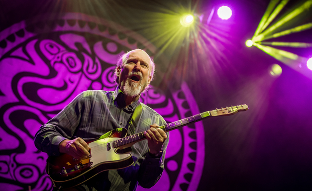 John Scofield pictured as Gov't Mule with John Scofield in concert at Brooklyn Bowl at The Linq in Las Vegas, NV on February 22, 2015. (Courtesy, Erik Kabik/Retna Ltd.)