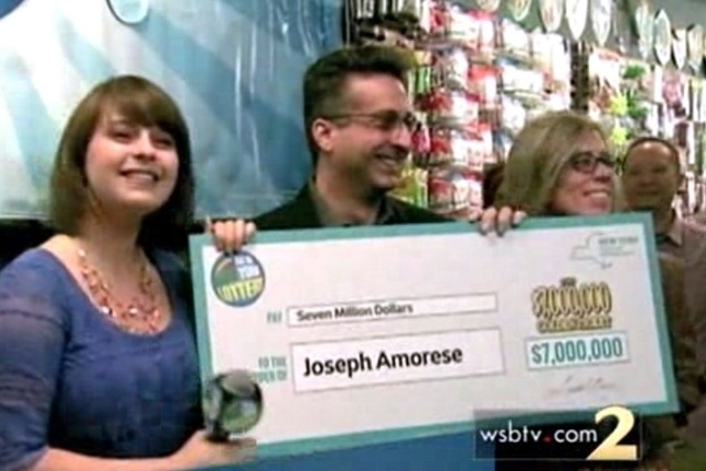 Amorese, 46, will collect a lump sump of $4.6 million after taxes, the station reported. (Screengrab, WSBTV)