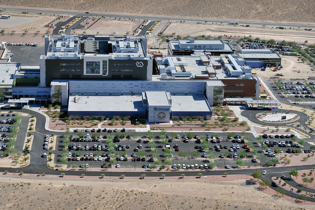 An aerial view of the [Veterans Affairs] VA Medical Center in North Las Vegas is seen on Tuesday, Sept. 9, 2014. (David Becker/Las Vegas Review-Journal)