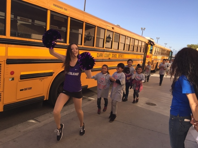 The West Coast Conference hosted the WCC Kids Day Block Party at the Orleans Arena, 4500 W. Tropicana Ave., March 6, 2015, to benefit the After-School All-Stars Las Vegas. Nearly 800 youths from t ...