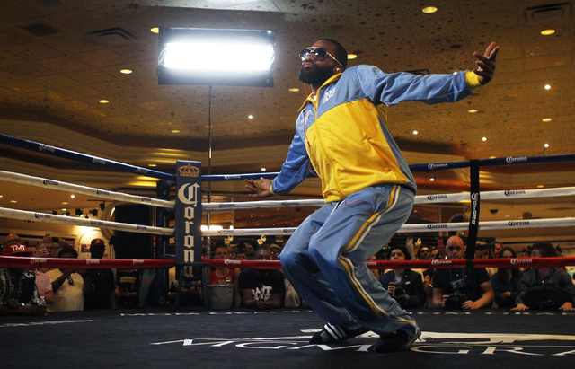 Boxer Adrien Broner soaks up the spotlight at the MGM Grand on April 30 while hyping his 140-pound fight against Carlos Molina. Broner went on an expletive-filled rant after defeating Molina by de ...