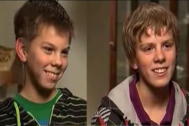 The boys noticed they had the same nose, dressed the same, liked the same sports and video games and even laughed and talked alike. (FamilyShare)