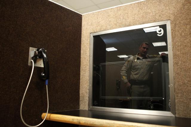 Inside the Clark County Detention Center in Las Vegas. (Erik Verduzco/Las Vegas Review-Journal)
