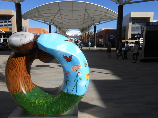 A St. Jude Children's Research Hospital's Celebration of Life statue is seen Feb. 12, 2015, at Downtown Summerlin near Macy's. It is one of 10 such sculptures designed by ​Dorit Schwartz,  ...