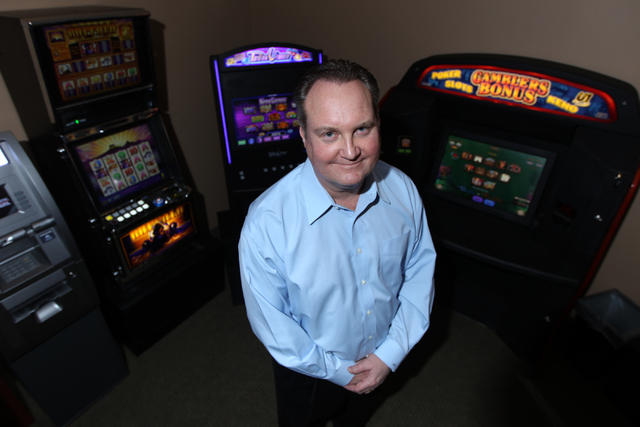 Steven Arntzen, president of Century Gaming Technologies, poses for a portrait at the Century Gaming Technologies offices in Las Vegas Monday, March 2, 2015. (Erik Verduzco/Las Vegas Review-Journal)