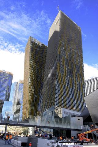The Veer Towers at CityCenter resort complex in Las Vegas, Nov. 18, 2009. (John Gurzinski/Las Vegas Review-Journal)