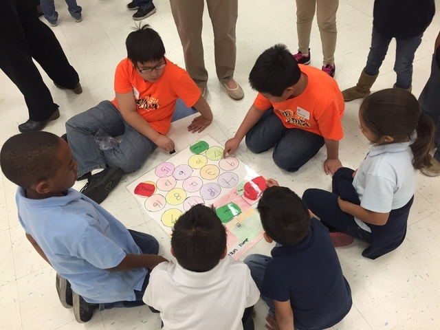 The yearlong, pay-it-forward Change Reaction program reached Cox Elementary School, 3855 N. Timberlake Drive, Feb. 26. The campaign, spearheaded by Matt Smith Physical Therapy, involves a chain re ...