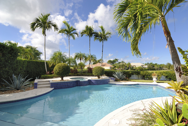 Thinkstock Homeowners have many options for landscaping the areas around their pools.