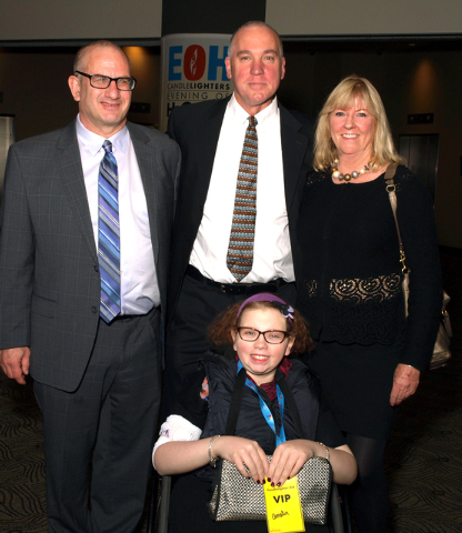 Jonathan Bernstein, from left, John L. Smith, Sally Denton, and in front, Amelia Smith (Marian Umhoefer/Las Vegas Review-Journal)
