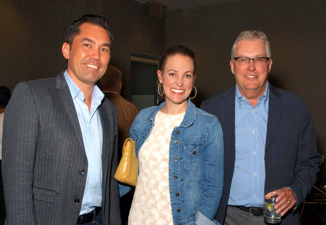 Philip Knott, from left, Melissa Cook and Mark McKinley (Marian Umhoefer/Las Vegas Review-Journal)