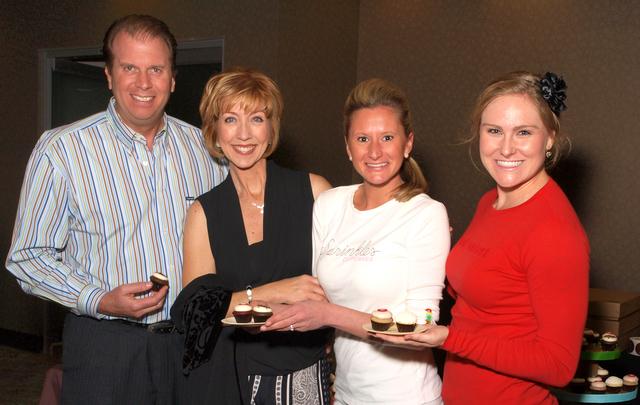 Cort Bentz, from left, Sherry Swensk, Jodi Moore and Katelyne Herrington (Marian Umhoefer/Las Vegas Review-Journal)