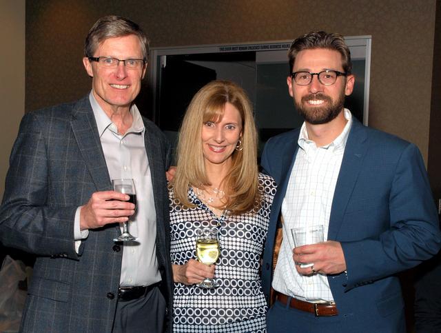 Greg and Karen McKinley, from left, and Matt Cook (Marian Umhoefer/Las Vegas Review-Journal)