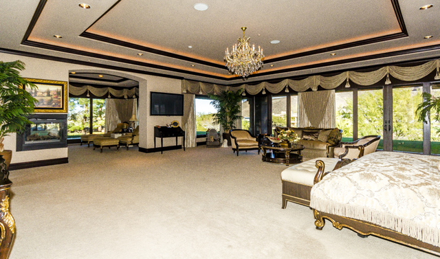 (John Kelly/Las Vegas Review-Journal) One of the master bedrooms.