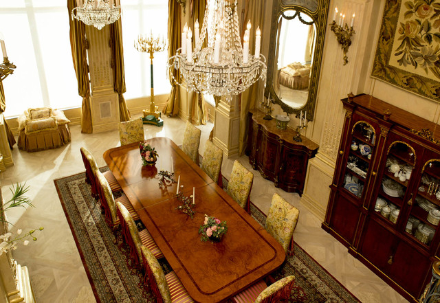 Tonya Harvey/Real Estate Millions  Throughout the home the theme is 17th century France, including the dining room.