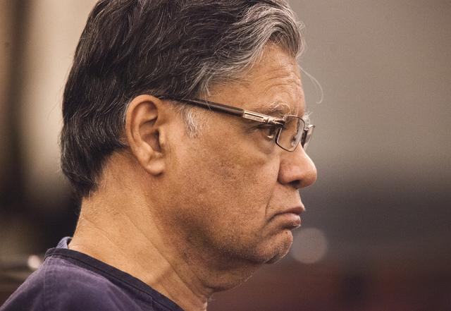 Dr. Dipak Desai as seen Thursday, Oct. 24, 2013, during sentencing at Regional Justice Center. (Jeff Scheid/Las Vegas Review-Journal)