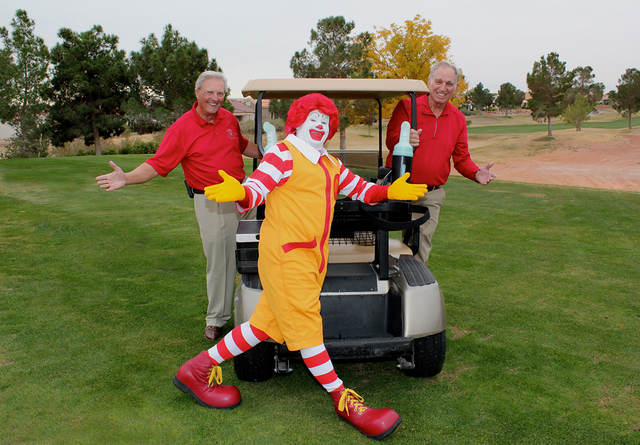 John Malley, left, and Sun City Classic Tournament Chairman Tony DerHake (DJ Minella/Special to View)