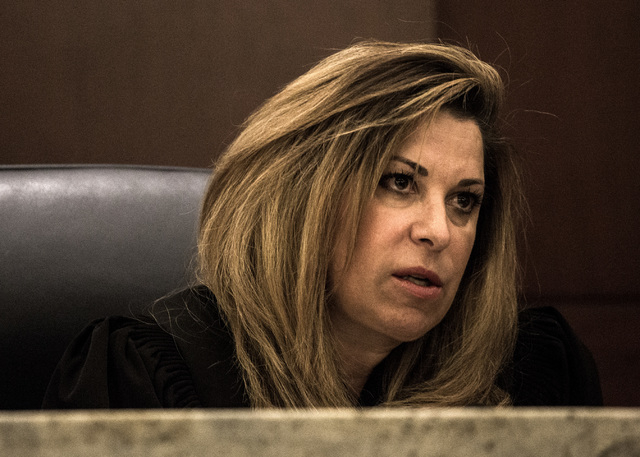 Nevada Court of Appeals Judge Abbi Silver is shown during the first Court of Appeals hearing on Wednesday, March 25, 2015, at Regional Justice Center, 200 Lewis Ave. The appeals court chose a prod ...