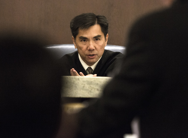 Nevada Court of Appeals Judge Jerome Tao is shown during the first Court of Appeals hearing, Wednesday, March 25, 2015, at the Regional Justice Center, 200 Lewis Ave. The appeals court chose a pro ...