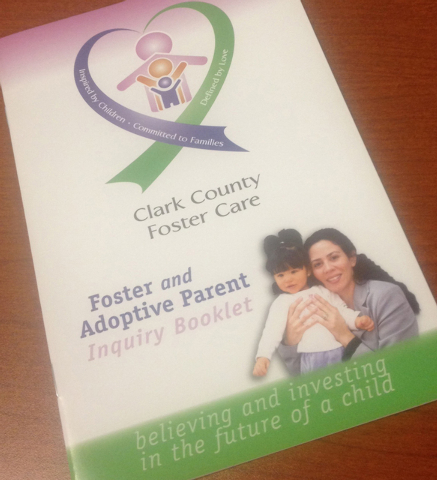 A Clark County foster care information booklet is shown March 2015. (Special to View)
