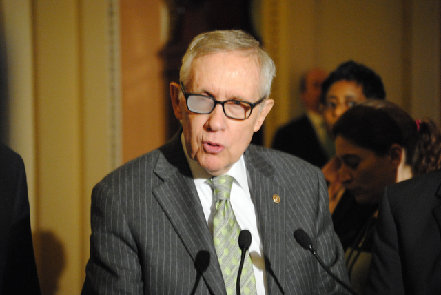 Sen. Harry Reid of Nevada on March 17, 2015. (Peter Urban/Stephens Washington Bureau)