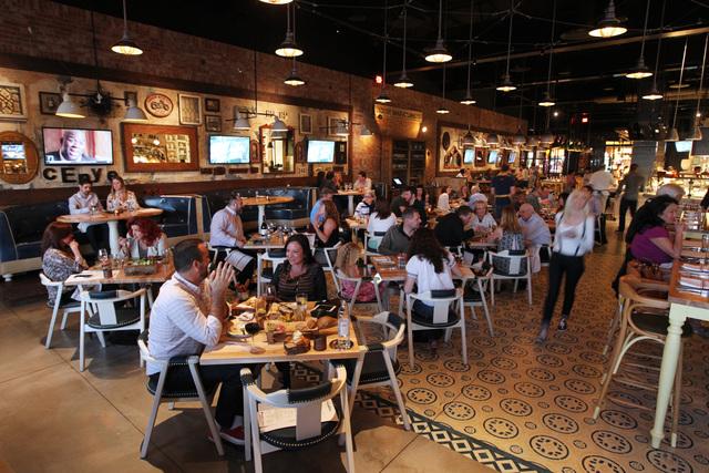The interior of the Hearthstone restaurant inside the Red Rock Resort hotel-casino in Las Vegas, Thursday, March 19, 2015. (Sam Morris/Las Vegas Review-Journal)