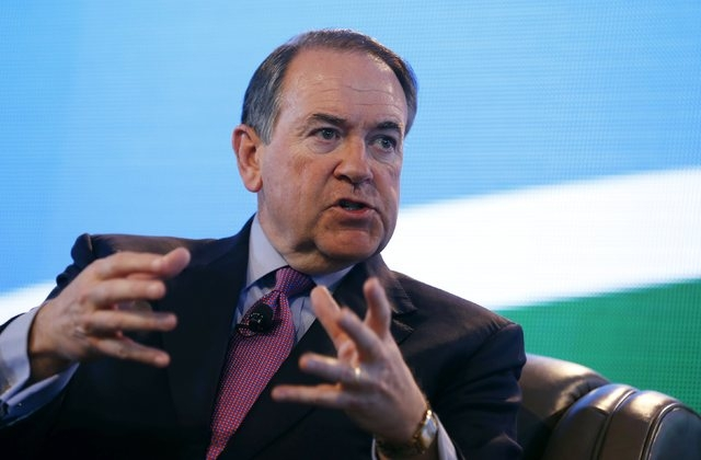 Former Governor of Arkansas Mike Huckabee speaks at the Iowa Agriculture Summit in Des Moines, Iowa March 7, 2015. (Jim Young/Reuters)