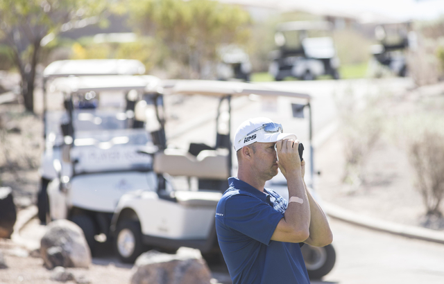 Former UNLV golf All-American and PGA Tour member Edward Fryatt golfs in a Southern Nevada Golf Association event on March 28, 2015, at Revere Golf Course in Henderson. Fryatt was competing in the ...