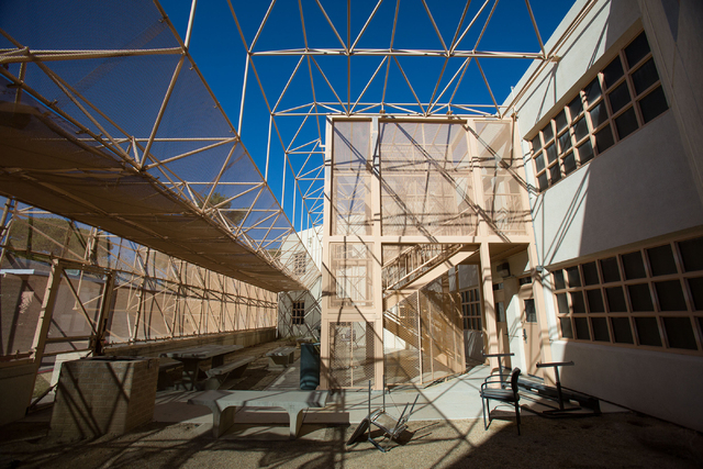 An outdoor space at Stein Hospital, a closed mental health hospital on the campus of Rawson-Neal Psychiatric Hospital, is photographed Friday, Jan. 23, 2015. (Samantha Clemens-Kerbs/Las Vegas Revi ...