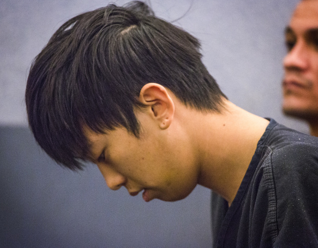 Seong Mo Lee, charged with DUI in fatal crash that killed two teenage sisters, makes his first appearance  in Las Vegas Justice Court on Monday, March 9, 2015. Lee, who was on bail for a previous  ...