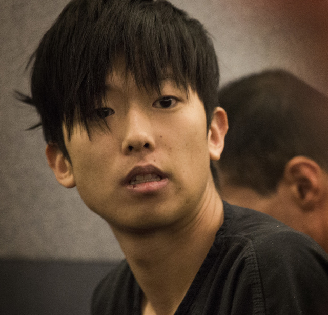 Seong Mo Lee, charged with DUI in fatal crash that killed two teenage sisters, makes his first appearance in Las Vegas Justice Court on Monday, March 9, 2015. Lee, who was on bail for a previous a ...