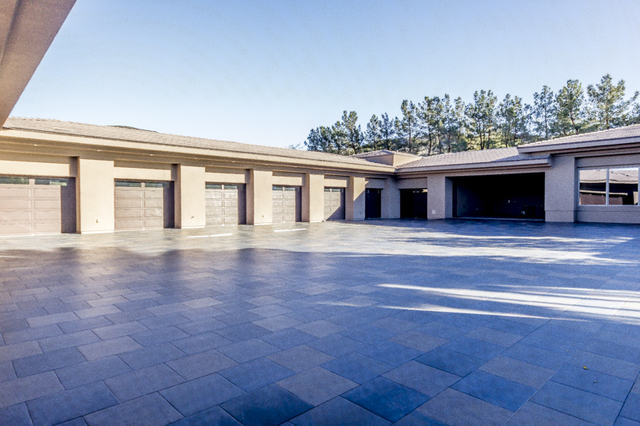 The 6,697-square-foot garage area houses seven cars, including a Smart car, Rolls-Royce, three custom golf carts and the owner's favorite toy, a dune buggy.  (John Kelly/Las Vegas Review-Journal)