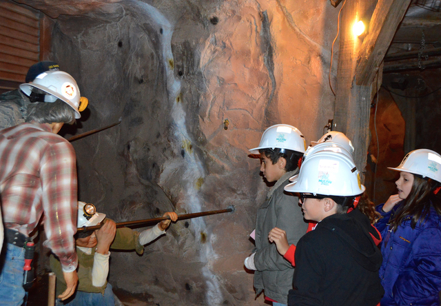 Fourth-graders tour the McCaw School of Mines at McCaw Elementary School, 57 Lynn Lane in Henderson, March 2. This marked the 90,000th visitor since the McCaw School of Mines opened in 1996. (Spec ...