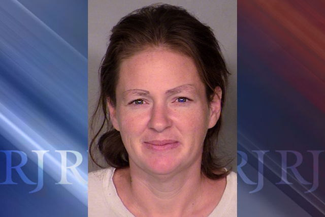Past booking photo of Jennifer Mustachia. Courtesy (Las Vegas Metropolitan Police Department)