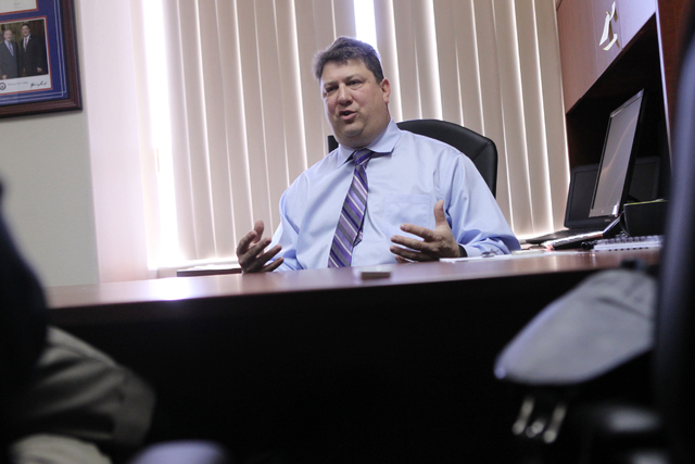 James Fleitz, vice president of sales for ArrowData, is interviewed inside his office at the ArrowDate offices in Las Vegas Wednesday, March 4, 2015. (Erik Verduzco/Las Vegas Review-Journal)