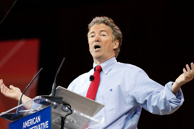 Sen. Rand Paul of Kentucky speaks at the Conservative Political Action Conference at National Harbor in Maryland, Feb. 27, 2015. (Kevin Lamarque/Reuters)