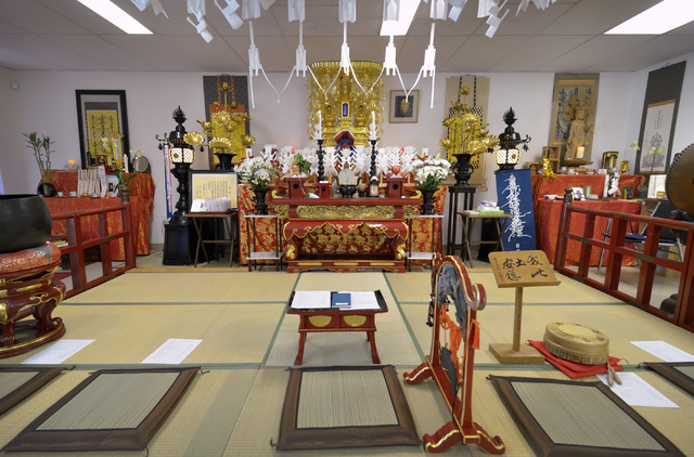 The interior of the Nichiren Buddhist Kannon Temple of Nevada is shown at 1600 E. Sahara Ave. in Las Vegas on Sunday, March 8, 2015. (Bill Hughes/Las Vegas Review-Journal)
