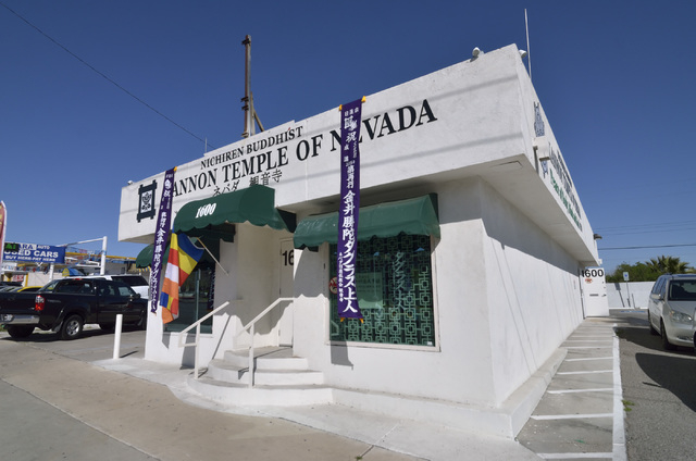 The exterior of the Nichiren Buddhist Kannon Temple of Nevada is shown at 1600 E. Sahara Ave. in Las Vegas on Sunday, March 8, 2015. (Bill Hughes/Las Vegas Review-Journal)