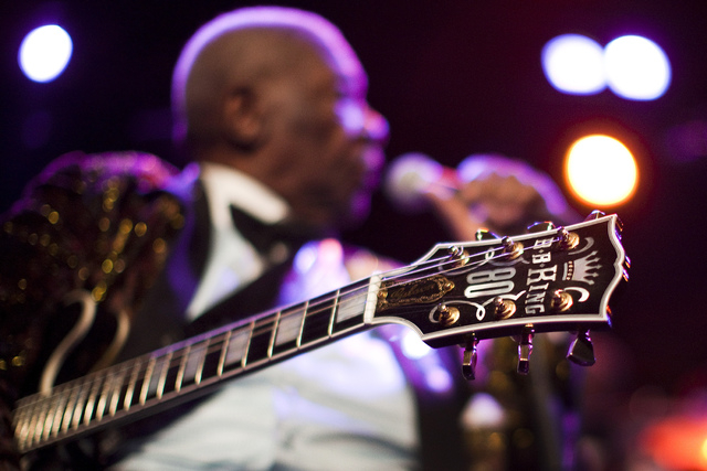 U.S. blues legend B.B. King performs onstage during the 45th Montreux Jazz Festival in Montreux July 2, 2011. (REUTERS/Valentin Flauraud)
